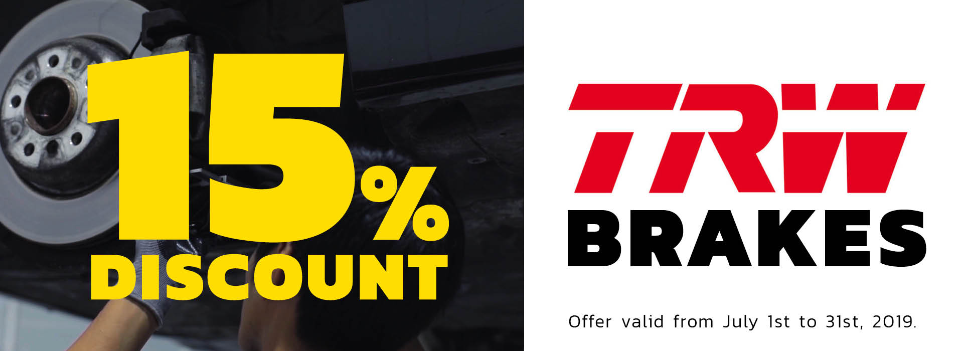 Brake Service Discount at Stop&Go