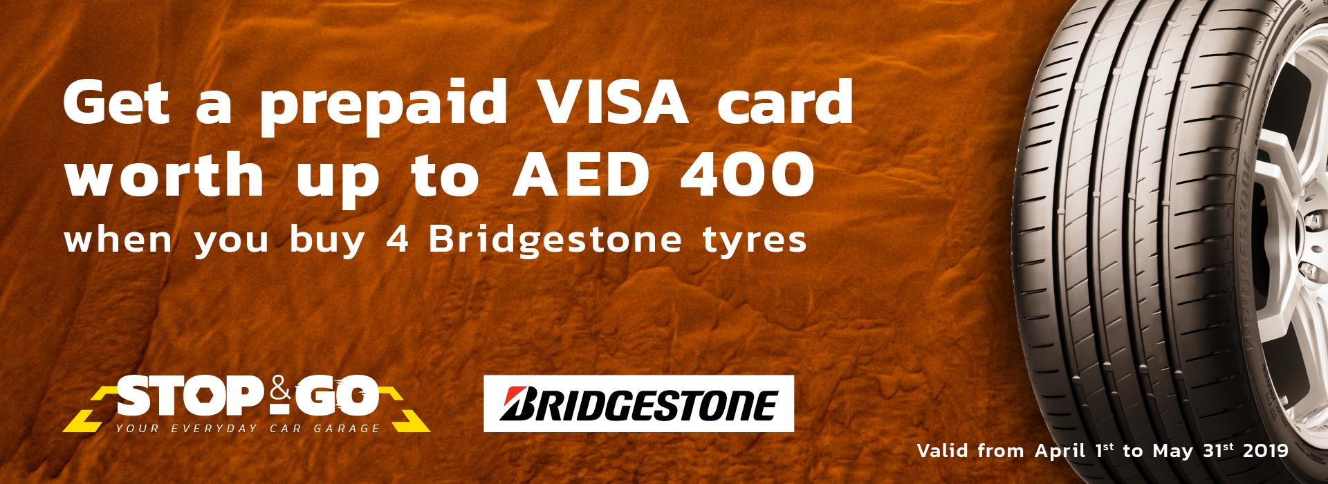 Buy Bridgestone Tyres and Get Prepaid Visa Card